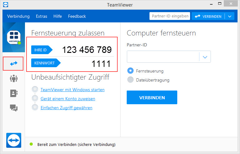 Ascunia Support per Teamviewer